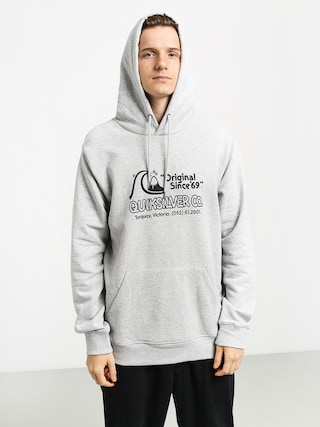 Bluza z kapturem Quiksilver Nelson Sun Screen Fleece HD (athletic heather)