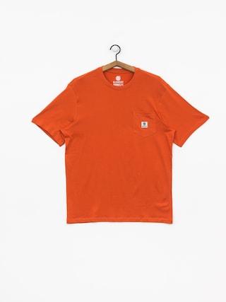 T-shirt Element Basic Pocket Label (burnt ochre)