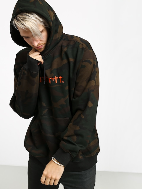 Bluza z kapturem Carhartt WIP Carhartt HD (camo evergreen/brick orange)