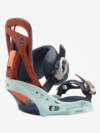 Wiązania snowboardowe Burton Scribe Est Wmn (wood grain jane)