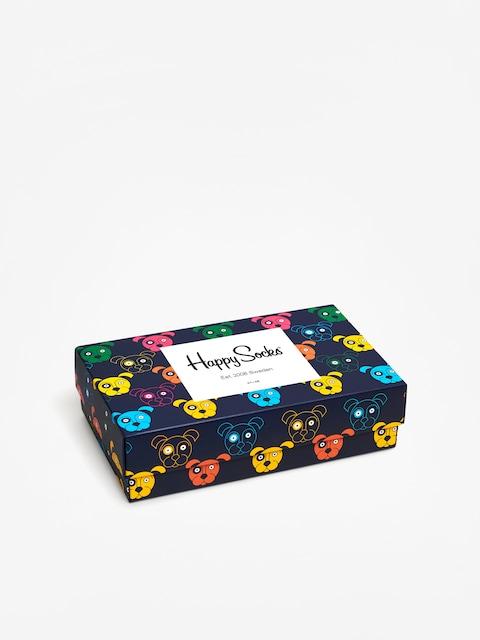Skarpetki Happy Socks Giftbox Dog (white/navy/blue)