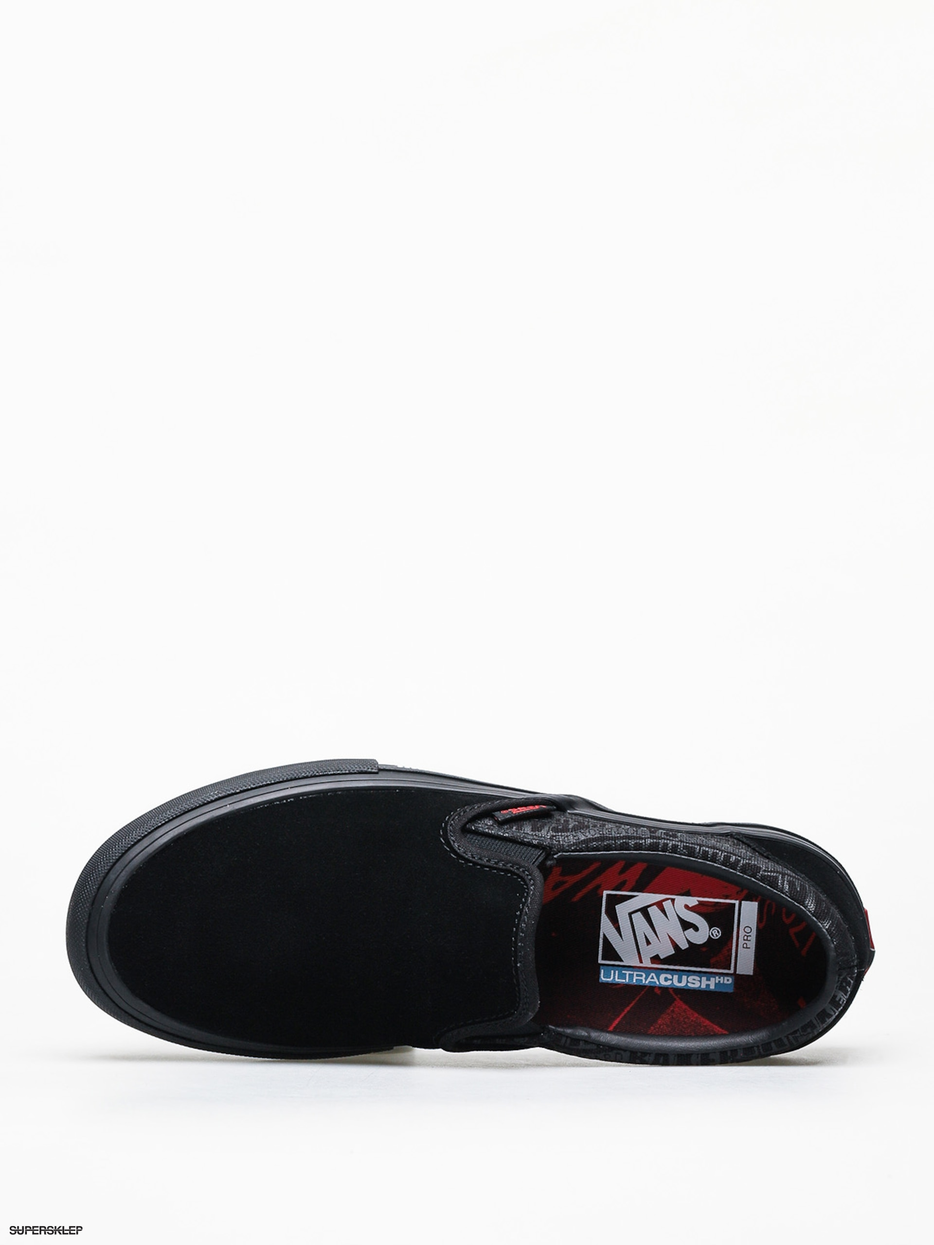 Vans X Baker Slip On Pro Black & Red Skate Shoes