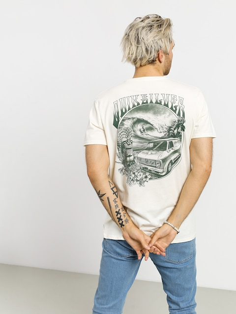T-shirt Quiksilver Waves Women And Wheels (antique white heathr)