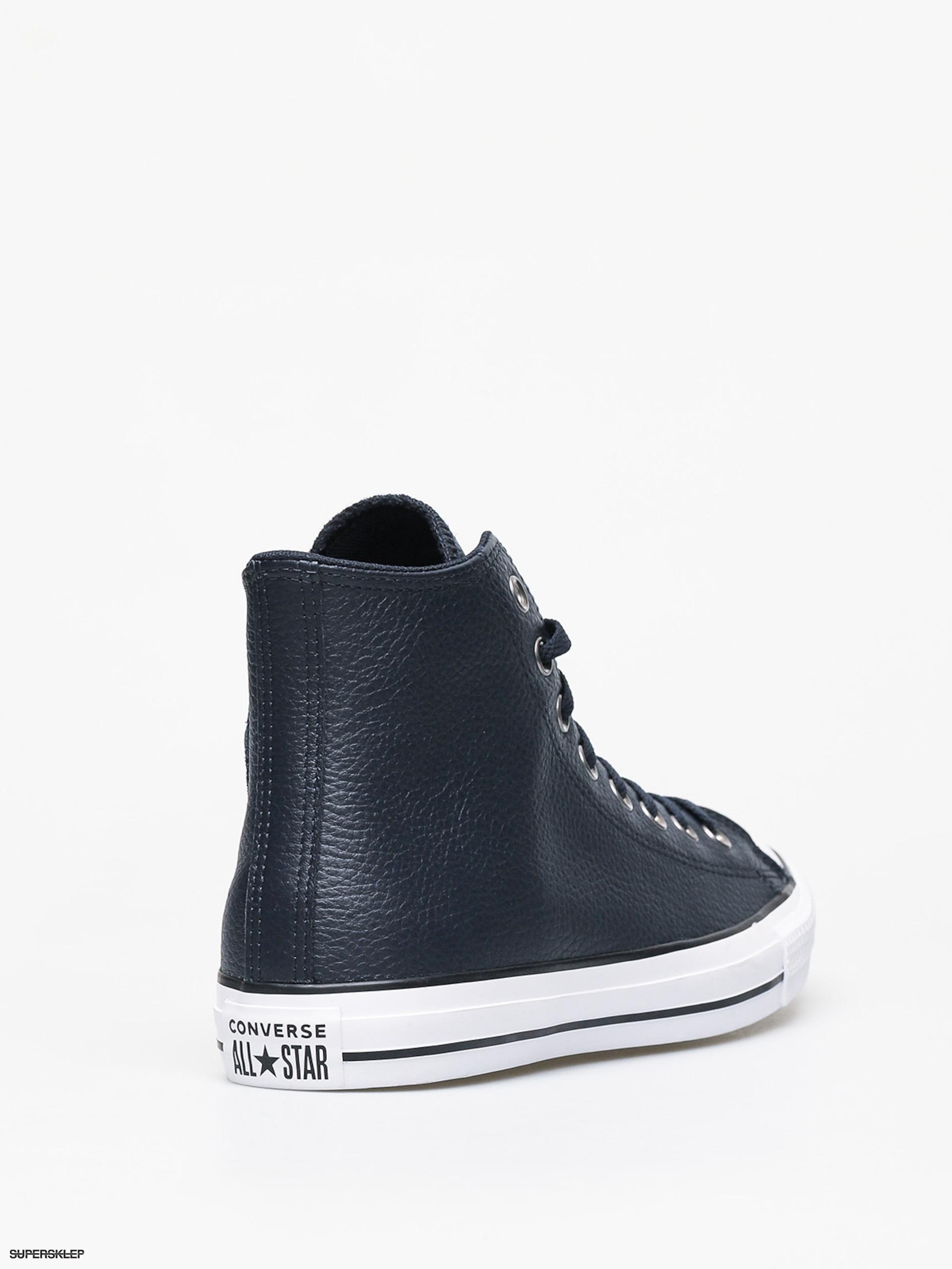 Trampki Converse Chuck Taylor All Star Hi Leather (dark obsidianwhiteblack)