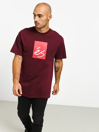 T-shirt Es Main Block (burgundy)