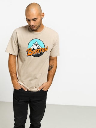 T-shirt Burton Retro Mtn (plaza taupe)