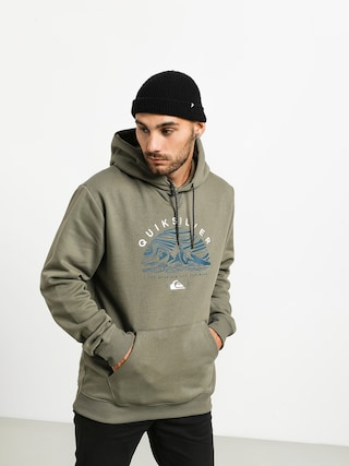 Bluza z kapturem Quiksilver Big Logo Snow HD (agave green)