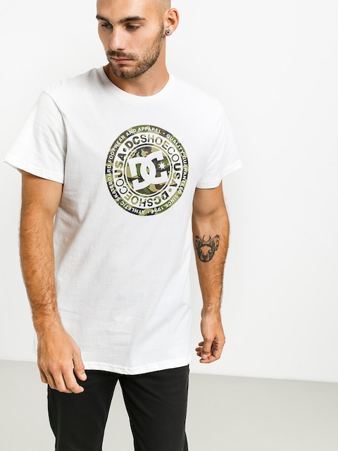 T-shirt DC Circle Star (snow white/camo)