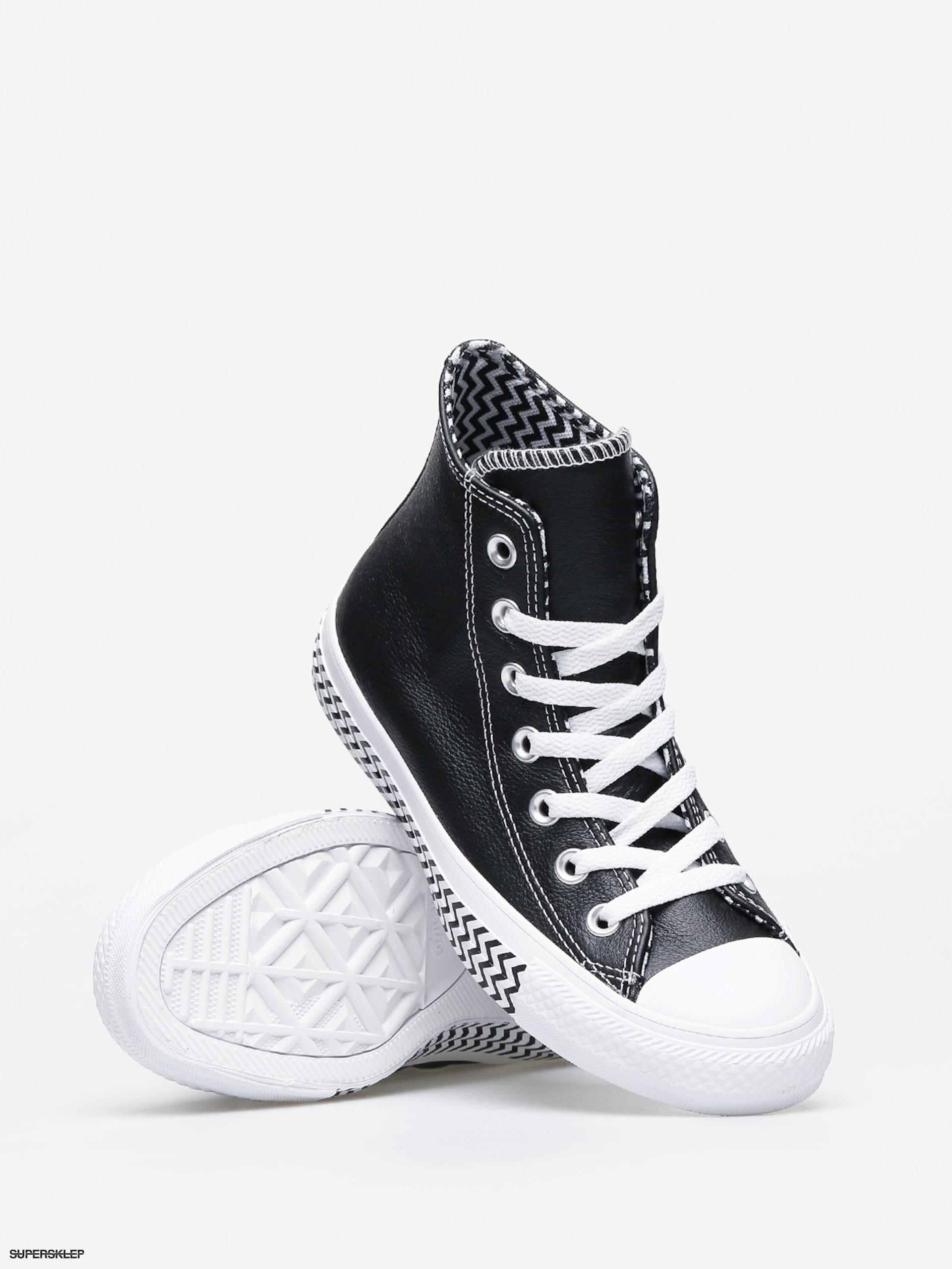 Trampki Converse Chuck Taylor All Star Hi Leather Wmn (blackwhitewhite)