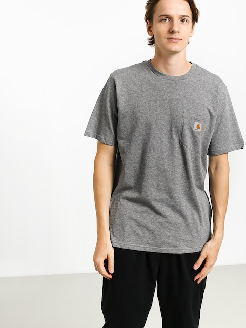 T-shirt Carhartt WIP Pocket (dark grey heather)