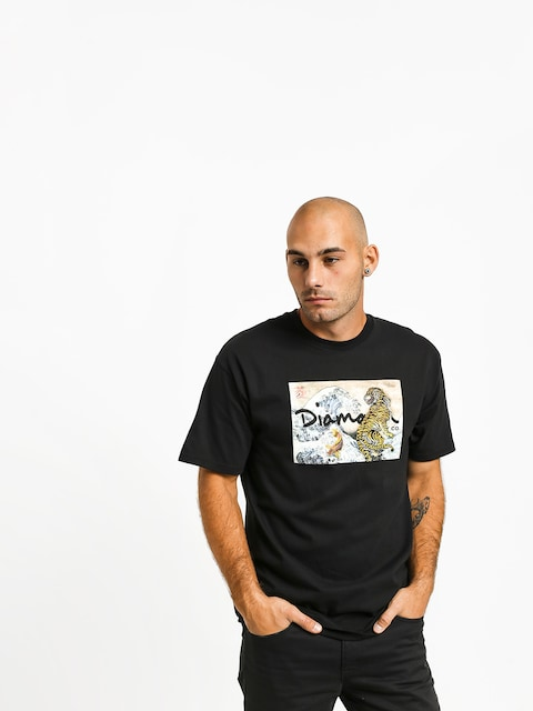 T-shirt Diamond Supply Co. Tiger Wave (black)