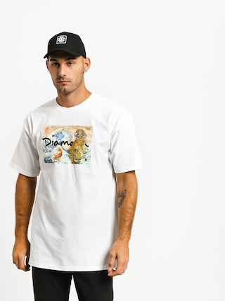 T-shirt Diamond Supply Co. Tiger Wave (white)