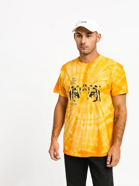 T-shirt Diamond Supply Co. Tiger Eye Spider Dye