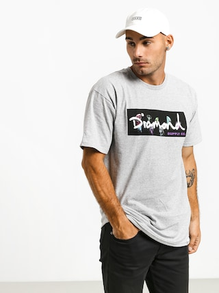 T-shirt Diamond Supply Co. Color Box Logo (heather grey)
