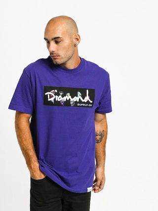 T-shirt Diamond Supply Co. Color Box Logo (purple)