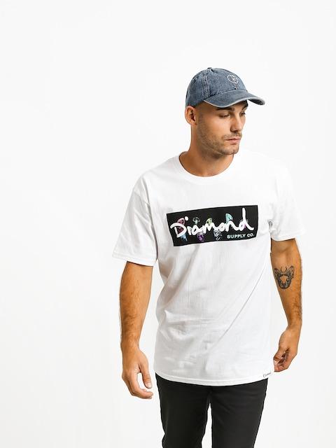 T-shirt Diamond Supply Co. Color Box Logo (white)
