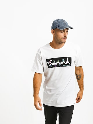 T-shirt Diamond Supply Co. Color Box Logo (white)