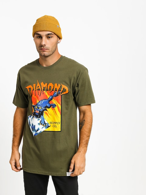 T-shirt Diamond Supply Co. Greed (military green)