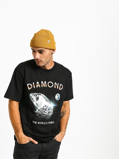 T-shirt Diamond Supply Co. World Is Yours (black)
