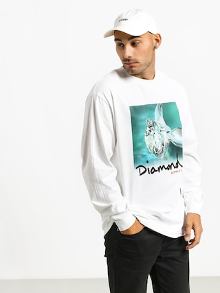 Longsleeve Diamond Supply Co. Shimmer (white)