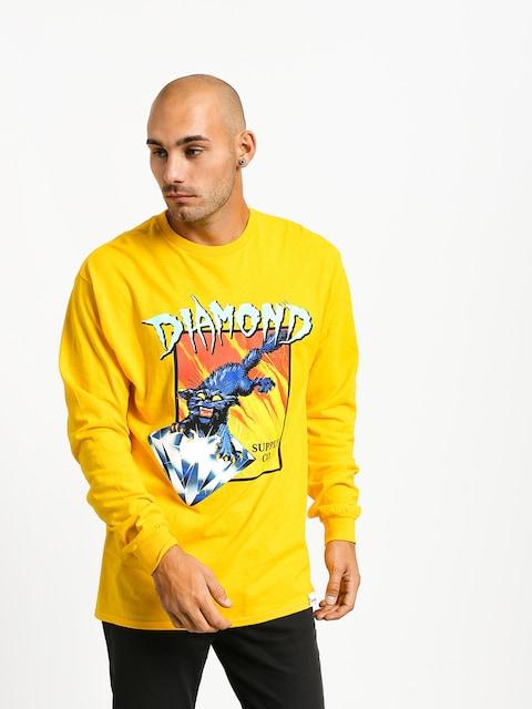 Longsleeve Diamond Supply Co. Greed (yellow)