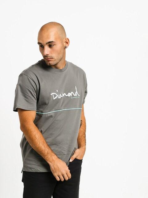 T-shirt Diamond Supply Co. Hard Cut (grey)
