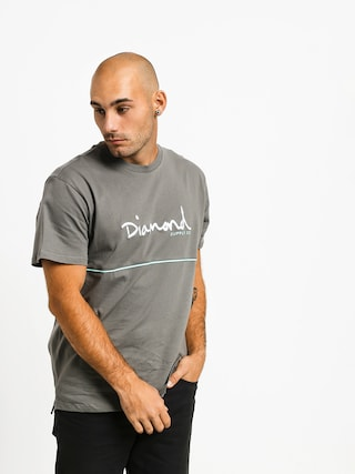 T-shirt Diamond Supply Co. Hard Cut (grey)