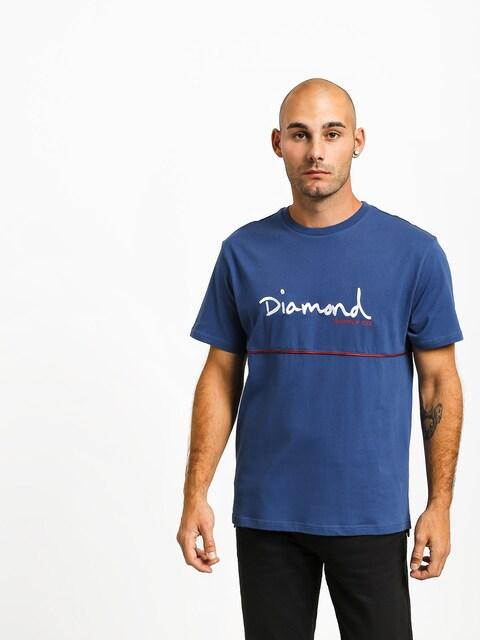T-shirt Diamond Supply Co. Hard Cut (navy)