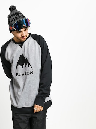 Bluza aktywna Burton Crown Bndd Crew (gryhtr/trublk)