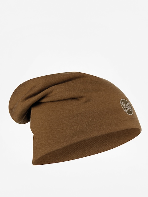 Czapka zimowa Buff Heavyweight Merino Wool Long (solid tundra khaki)