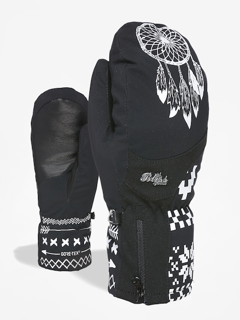 Rękawice Level Bliss Emerald Mitt Gore Tex Wmn (black white)