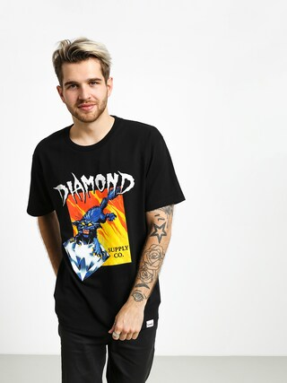 T-shirt Diamond Supply Co. Greed (black)