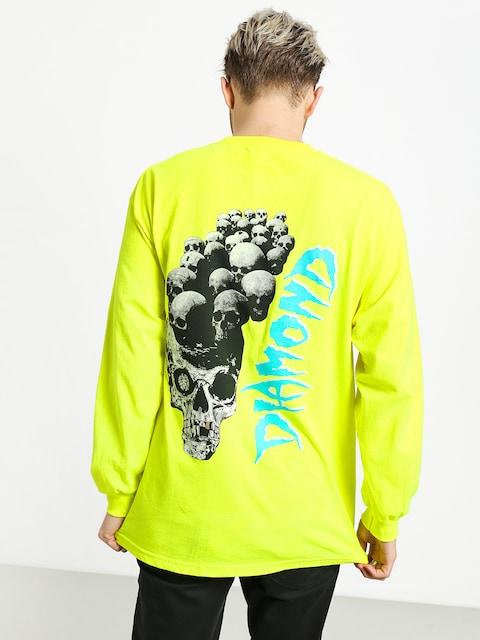 Longsleeve Diamond Supply Co. Burial Ground (safety green)