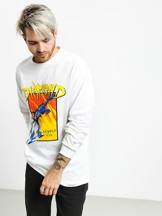 Longsleeve Diamond Supply Co. Greed (white)