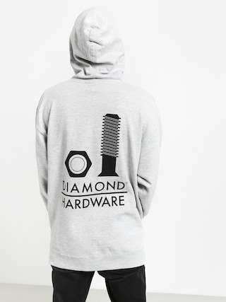Bluza z kapturem Diamond Supply Co. Secured HD (heather grey)
