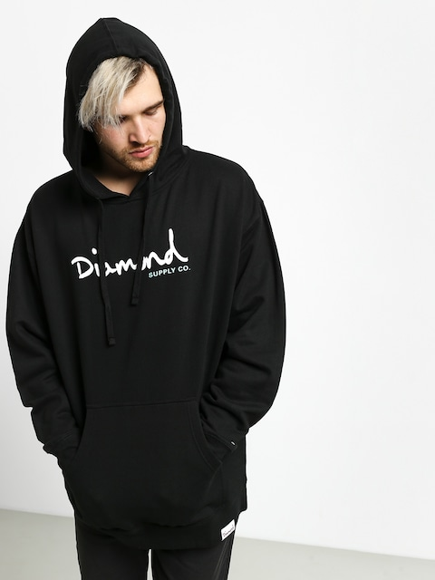 Bluza z kapturem Diamond Supply Co. Shimmer Og Scrpit HD (black)