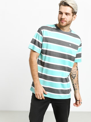 T-shirt Diamond Supply Co. Hard Cut Striped (grey)