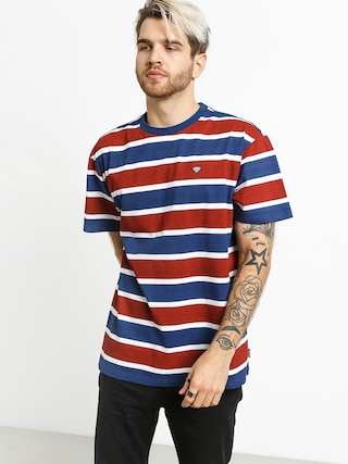 T-shirt Diamond Supply Co. Hard Cut Striped (navy)