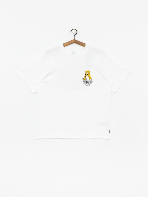 T-shirt adidas Footforward (white/black/active gold)