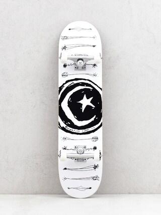 Deskorolka Foundation Star And Moon Scribb (white/black)