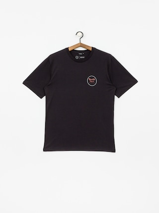 T-shirt Brixton Wheeler II Prem (washed black/red)