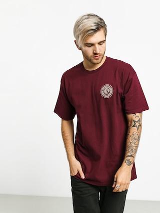 T-shirt Brixton Rival II Stnd (burgundy/grey)