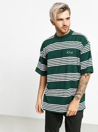 T-shirt Polar Skate Striped Surf (dark green)