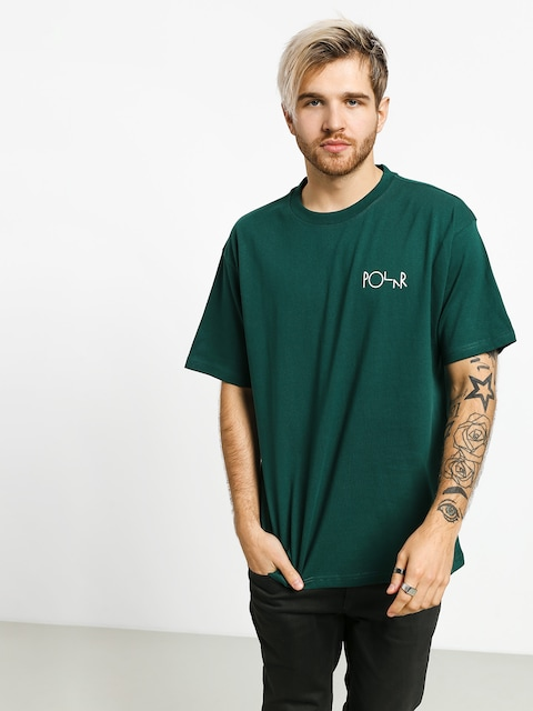 T-shirt Polar Skate Stroke Logo (dark green)