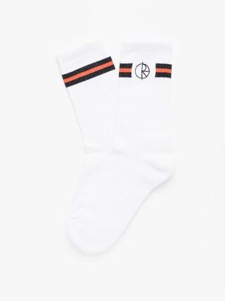 Skarpetki Polar Skate Stroke Logo (white/black/orange)