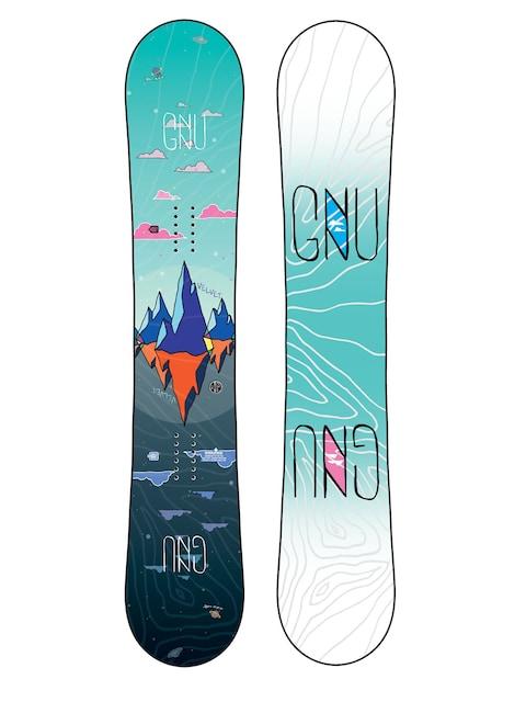 Deska snowboardowa Gnu Asym Velvet C2 Wmn