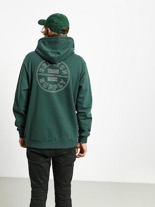 Bluza z kapturem Brixton Oath IV Intl HD (emerald)