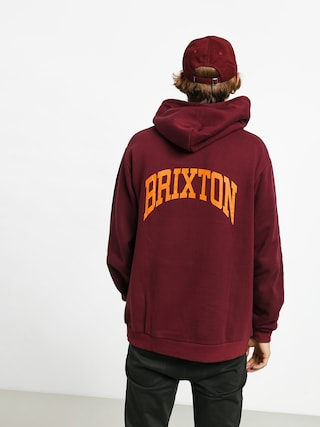 Bluza z kapturem Brixton Forte V Intl HD (maroon)