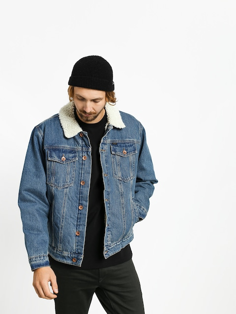 Kurtka Brixton Cable Sherpa Denim (worn indigo)
