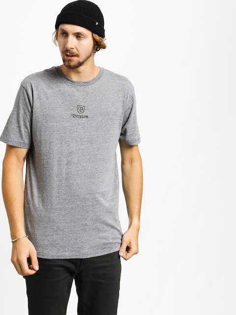 T-shirt Brixton Main Label II Prt (heather grey)